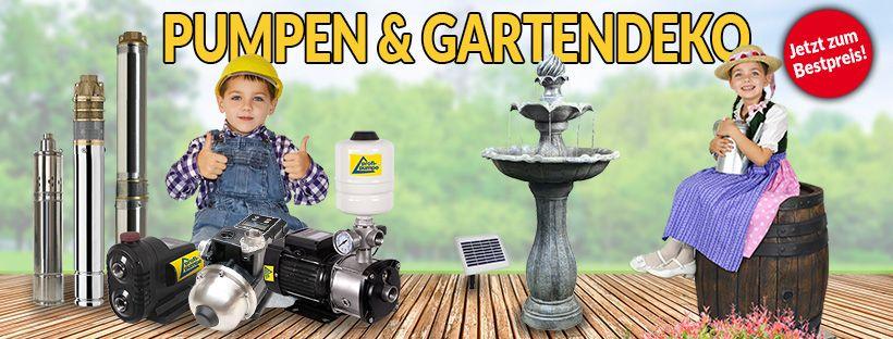 Profi für Pumpen und Gartendeko