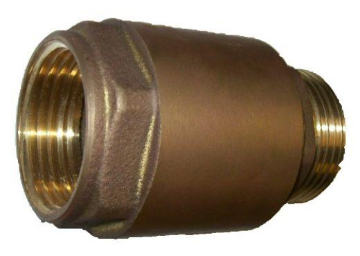 Rückschlagventil Messing 1 Zoll IG auf 1 Zoll AG Länge: 65mm