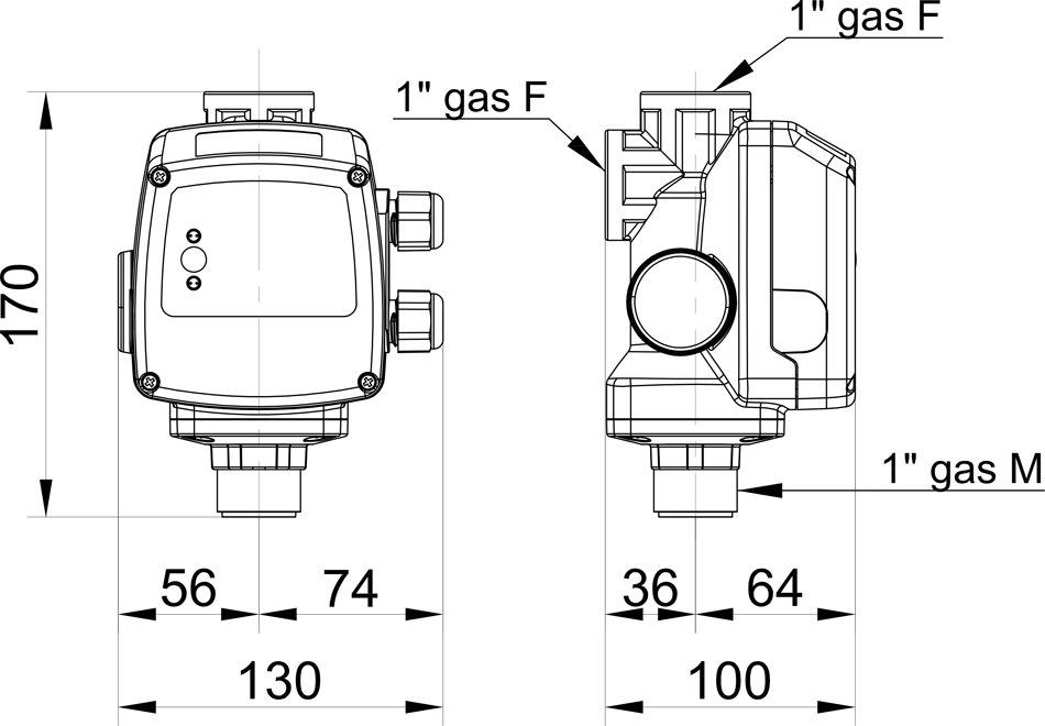 Durchflusswächter TEEPRES®-1, OHNE Manometer Automatic-Controller ...