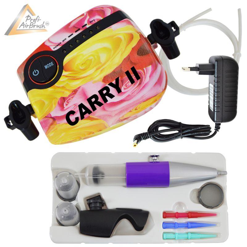 Profi-AirBrush Set Carry II R mit TORTEN-DECO-Airbrush Set