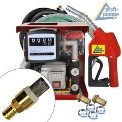 B-Ware Diesel EXELENZ-2 Pumpe mit Zähler, hochwertiger Saug- und Druckschlauch-Garnitur, Automatik-Zapfpistole und Zubehör