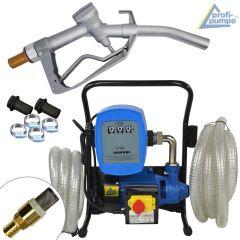 B-Ware Diesel Power 600-2  Pumpe mit Zähler, Saug- und Druckschlauch, Zapf-Pistole und Zubehör