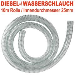 DIESEL-2 spiralverstärkter Schlauch, Innendurchmesser 25mm für 1-Tüllen, 10 m