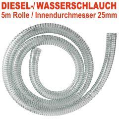DIESEL-2 spiralverstärkter Schlauch, Innendurchmesser 25mm für 1-Tüllen, 5 m