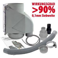 Filter T 50 grau inkl. DN50 Anschluss-Set grau