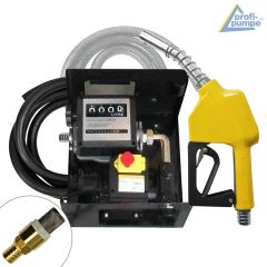 Diesel EXELENZ-3 Pumpe mit Zähler, hochwertiger Saug- und Druckschlauch-Garnitur, Automatik-Zapfpistole und Zubehör