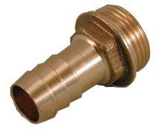 Messing Schlauchtülle von 1 AG auf Schlauchanschluss 3/4 / 19mm