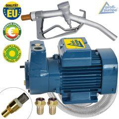 EU Diesel DeLuxe CKm 50 selbstansaugende Pumpe mit Saug- und Druckschlauch, Pistole und Zubehör