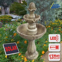 B-Ware Solar-Brunnen ASIA-GARTEN-1 mit LED Licht