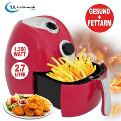 Heißluft-Multifritteuse ECO AIR-PROFI 1350W, rot