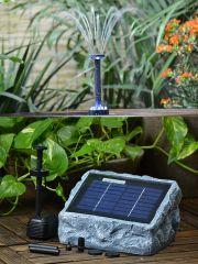 B-Ware Teichpumpen-Set Solar RÜGEN 200-1 mit LED-Licht