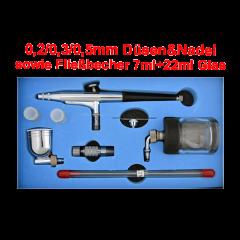Airbrushpistole Profi-AirBrush Gravity Double-Action-Gun 134s