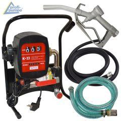 B-Ware Diesel Power 600-4 Pumpe mit Zähler, Saug- und Druckschlauch, Zapf-Pistole und Zubehör