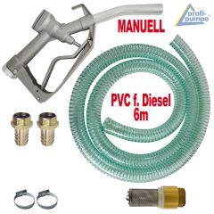 Diesel Zubehör Paket 1 mit PVC Schlauch und Aluminium Zapfpistole