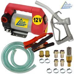 Set Diesel Star 160-4 - 12V-Pumpe mit Saug- und Druckschlauch, Pistole und Zubehör