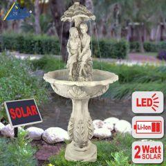 B-Ware Solar - Brunnen DIE LIEBENDEN 200-2 mit LiIon-Akku & LED-Licht