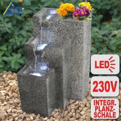 B-Ware Garten- und Zimmerbrunnen GRANITWAND-KASKADE mit LED-Licht