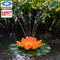 B-Ware Solar-Teichpumpen-Set Lotus-Blume - orange