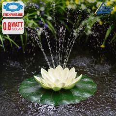 B-Ware Solar-Teichpumpen-Set Lotus-Blume - weiß