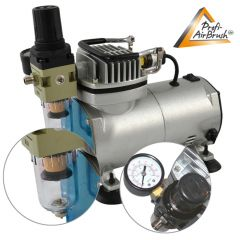 B-Ware Profi-AirBrush Kompressor Compact II mit Zubehörauswahl