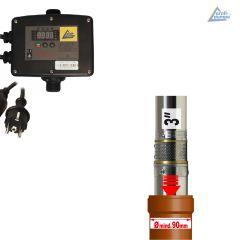 3 Tiefbrunnenpumpe BRUNNEN-STAR 750-7-230V mit INVERTER-Pumpensteuerung 2-1,1KW 230V/3*230V, verkabelt (IPC-2-V)