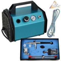Profi-AirBrush Kompressor Beauty Maxx Set I mit Zubehörauswahl