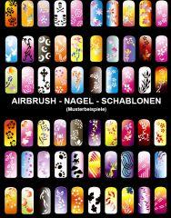 Airbrush Fingernagel-Schablonen-Set