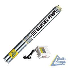 4 Tiefbrunnenpumpe BRUNNEN-STAR 1500-4 - Pumpenteil und Motor