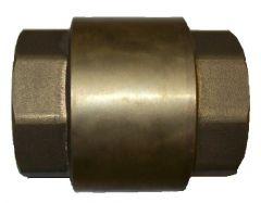 Rückschlagventil Messing 1 Zoll IG auf 1 Zoll IG Länge: 55mm