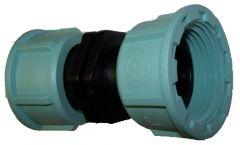 Übergangsstück Kunststoff 1 Zoll IG Überwurfmutter auf 1 Zoll IG Überwurfmutter, Länge ca. 85mm
