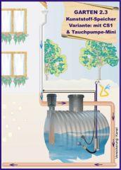 Regenwassernutzung Komplettanlage OEKO Garten 2.3 PE-Tank 3900L inkl. Anschlusszubehör