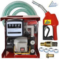 Diesel EXELENZ-2 Pumpe mit Zähler, hochwertiger Saug- und Druckschlauch-Garnitur, Automatik-Zapfpistole und Zubehör