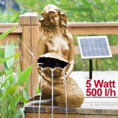 B-Ware Teichpumpen-Set Solar MEERJUNGFRAU mit Muschel