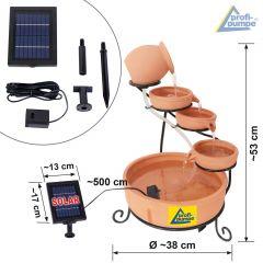Solar Gartenbrunnen TERRA-3