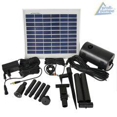 B-Ware Teichpumpen-Set Oasis 510-H-Hybrid Solarbetrieb und 230V-Anschluss, LED-Licht