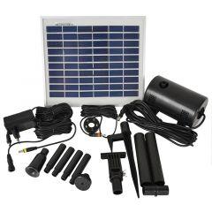 Teichpumpen-Set Solar  Oasis 510-H-Hybrid mit 230V-Anschluss und LICHT