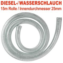 PVC Diesel-Spiral-Schlauch 1, Länge 15m
