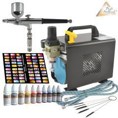 Profi-AirBrush Kompressor Ultimate I Nail Set