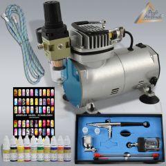 Profi-AirBrush Kompressor Compact Set I Nail Set
