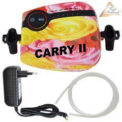 Profi-Airbrush Kompressor Carry II Rose mit Druckschlauch / Netzteil