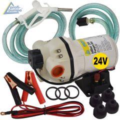 Set AdBlue® 24V-Pumpen-Set, selbstansaugend, mit Saug- und Druckschlauch, Adblue-Zapf-Pistole und Zubehör