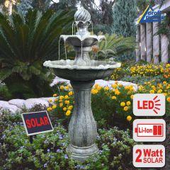 Solar - Brunnen KLASSIK-GARTEN mit LiIon-Akku & LED-Licht