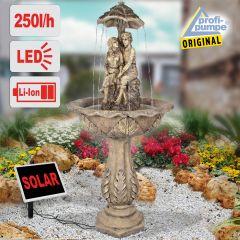 Solar - Brunnen DIE LIEBENDEN 200-2 mit Li-Ion-Akku & LED-Licht