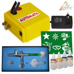 Profi-AirBrush Set Carry I und Fancy Tattoo Airbrush Set