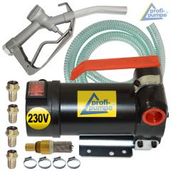 Set Diesel Star 160-4 - 230V-Pumpe mit Saug- und Druckschlauch, Pistole und Zubehör