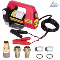 Diesel Star 160-4 - 12V-Pumpe ohne Zubehör, mit 2 Stk Tüllen, 2 Stk Schellen und Vorfilter