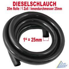 Diesel Gummi-Schlauch 1, schwarz, 20m