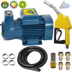 EU Diesel DeLuxe CKm 50 selbstansaugende Pumpe mit Gummi Schlauch, Pistole und Zubehör