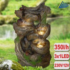 Gartenbrunnen MÄRCHENWALD mit LED-Licht