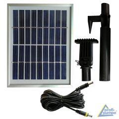 2,5Watt-Hybrid-System: 2,5Watt-Solar-Panel mit 5m Kabel zum Anschluß an 230V-Netzadapter, Erweiterungs-Set für Solar-Betrieb